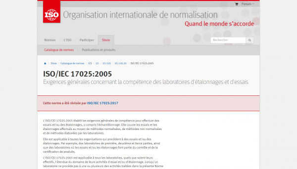 Démarche qualité ISO 17025 - France Organo Chimique