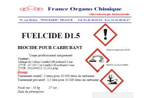 Fuelcide D 1.5 - France Organo Chimique